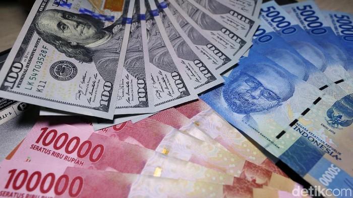 Illustrasi Rupiah dan Dollar