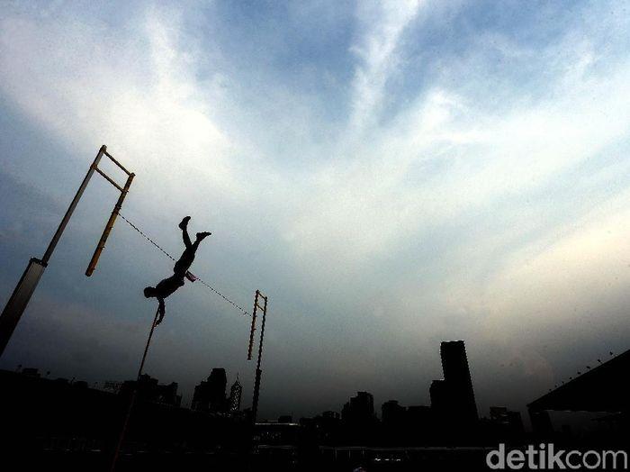 Pelatnas atletik kembali digelar di Stadion Madya, Senayan (Rengga Sancaya/detikcom)
