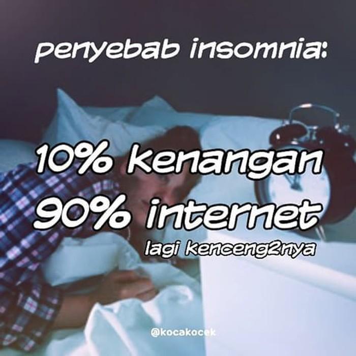 Nah ini nih, bener enggak kalau enggak bisa tidur itu dikarenakan koneksi internet yang super ngebut? (Foto: Internet)