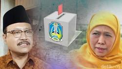 Survei Populi: Khofifah-Emil 44%, Gus Ipul-Puti 38,8%
