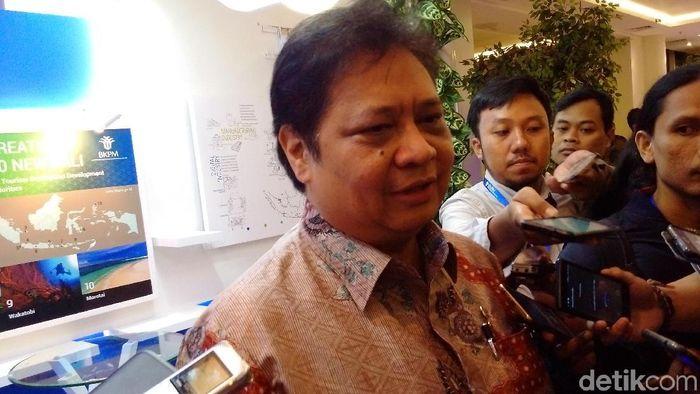 Menteri Perindustrian Airlangga Hartarto, di acara peresmian KLIK di 15 Kawasan Industri di The Alana Yogyakarta Hotel, Sleman. Foto : Ristu Hanafi