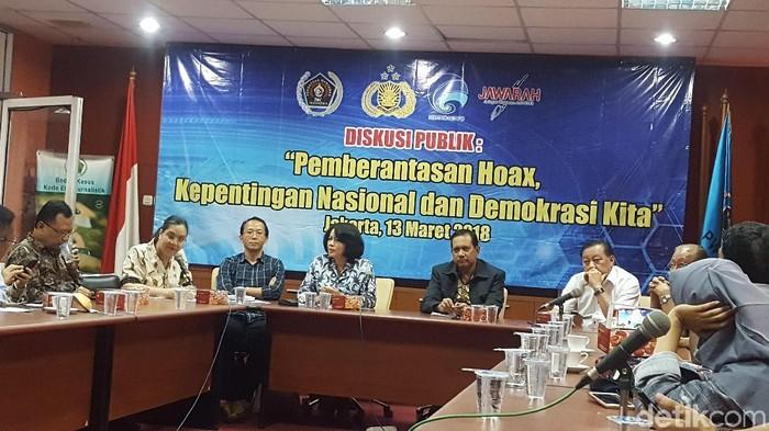 Foto: Diskusi Pemberantasan Hoax, Kepentingan Nasional dan Demokrasi Kita (Zunita-detikcom)