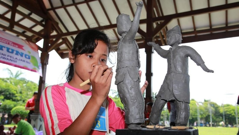 Antusiasnya Pelajar SD/MI Ikuti Pekan Seni Pelajar Banyuwangi