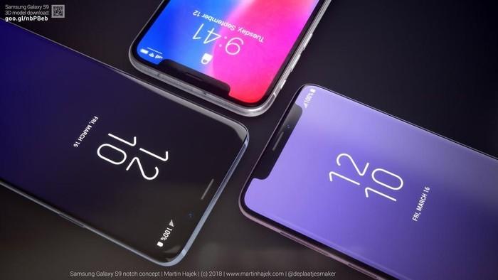 Jika Galaxy S9+ digabung dengan iPhone X. Foto: Phone Arena/Martin Hajek