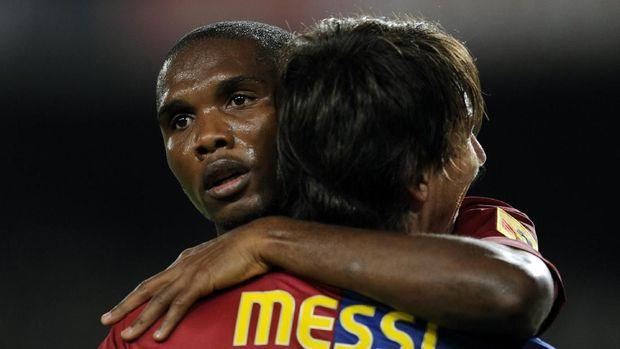 Samuel Eto'o adalah mesin gol Barcelona saat Lionel Messi masih berusia belia.