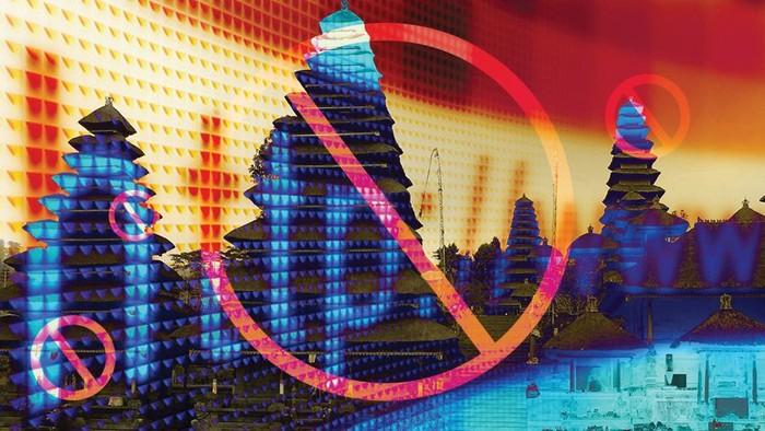 Ilustrasi Nyepi tanpa internet. (Zaki Alfarabi/detikcom)