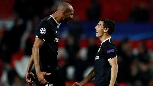 Steven N'Zonzi dan Wissam Ben Yedder menjadi pemain kunci Sevilla ketika mengalahkan MU.