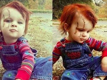 Sudah mirip sama karakter boneka Chucky belum, Bun? (Foto: Instagram @xcosplayxmag)