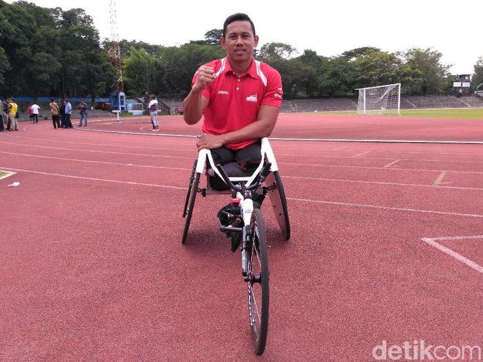 Atlet balap kursi roda Indonesia, Jaenal Aripin (Foto: Okdwitya Karina Sari)