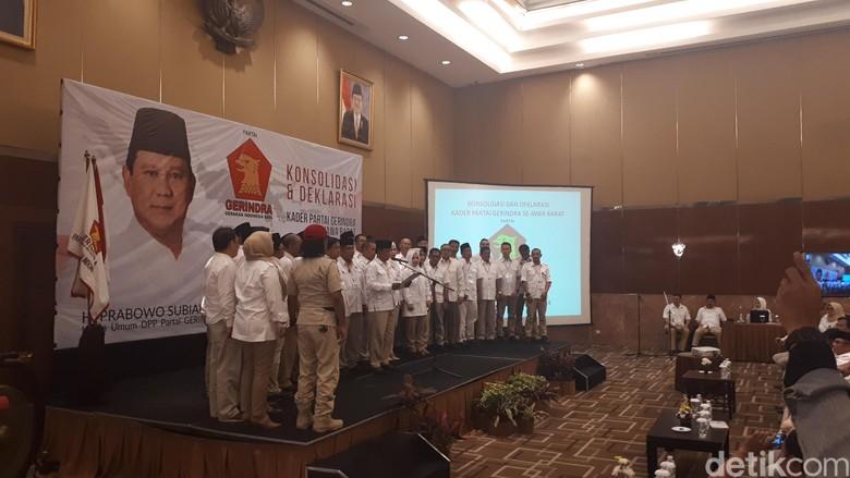 Pengurus Gerindra di Jabar Deklarasikan Prabowo Capres 2019