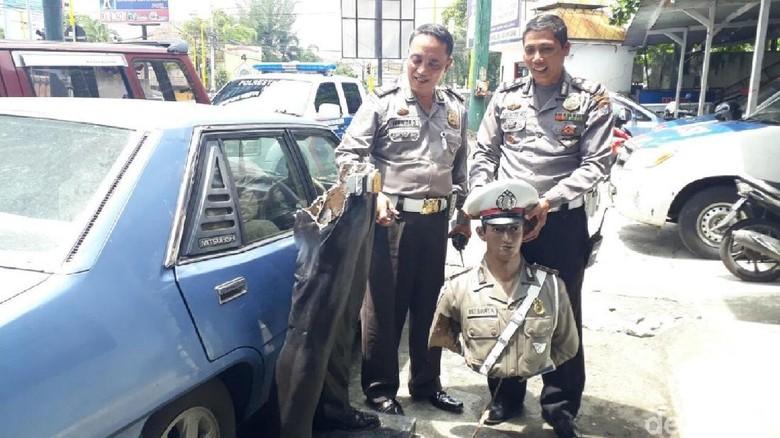 Patung Polisi di Yogya Dirusak Orang Tak Dikenal