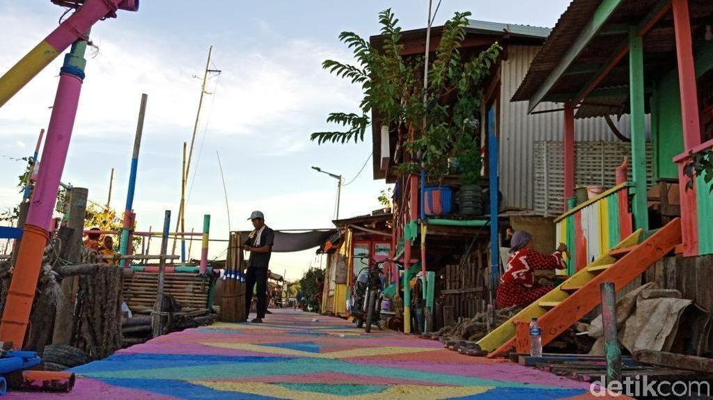 Cantiknya Kampung Nelayan Warna-warni di Jakarta Utara
