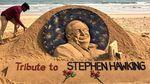 Foto: Sosok Stephen Hawking Dikenang Lewat Pasir