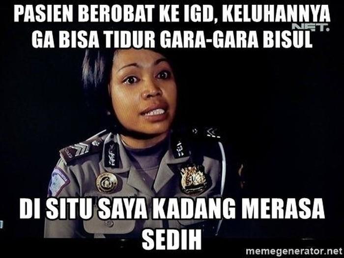 Seperti tak kehabisan ide, para netizen pun membuat meme bisul. Foto: Internet