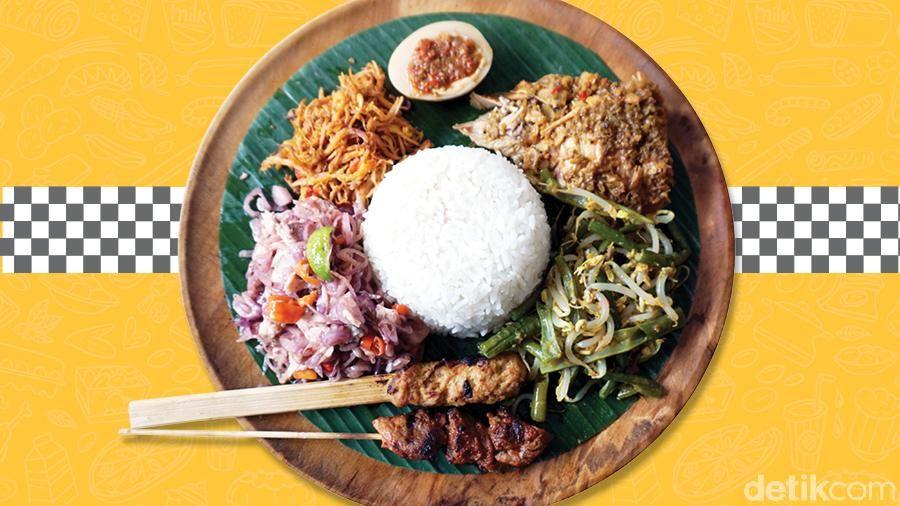 nasi campur khas Bali