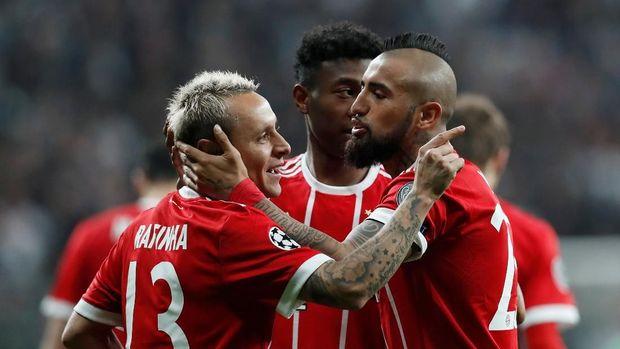 Bayern Munich jadi tim yang lolos ke perempat final dengan kemenangan agregat terbesar.