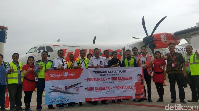 Foto: Wings Air membuka rute baru Pontianak-Miri (Mochamad Zhacky Kusumo/detikTravel)