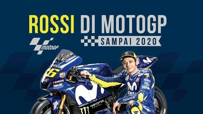 Valentino Rossi tetap di MotoGP sampai 2020 (Infografis Detiksport)
