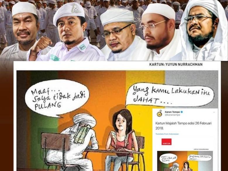 Kartun Pria Bersorban Tak Jadi Pulang Diprotes Fpi Ini Kata Tempo