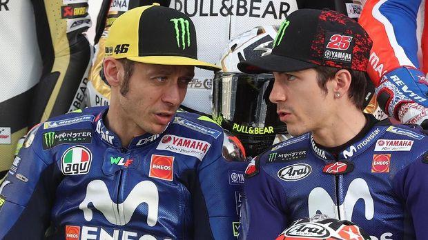 Valentino Rossi dan Maveric Vinales punya keluhan yang sama di tim Movistar Yamaha. (