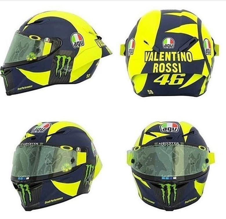Helm baru Rossi. Foto: Twitter @rossimania1