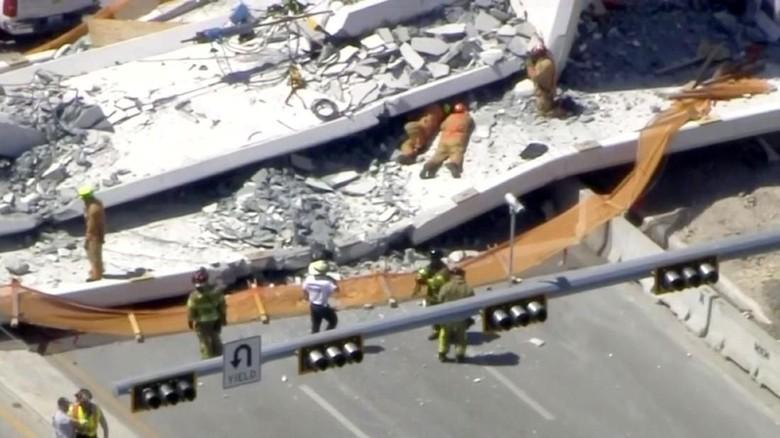 JPO Baru Dibangun Ambruk di Florida AS, Korban Tewas 4 Orang