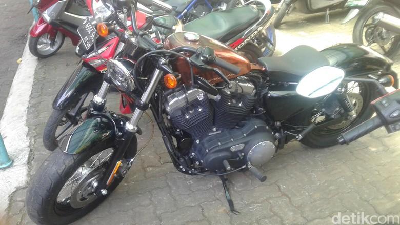 Harley milik salah satu siswa SMA di Jakarta Foto: Khairul Imam Ghozali