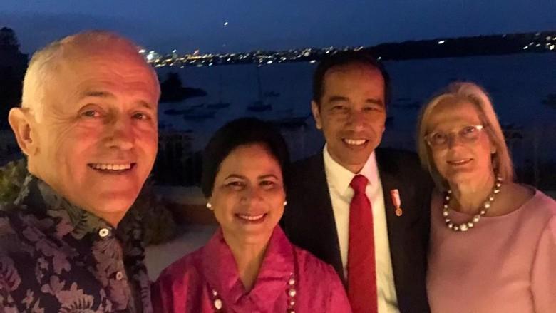 Saat Jokowi Saling Cerita dengan PM Australia soal Anak dan Cucu