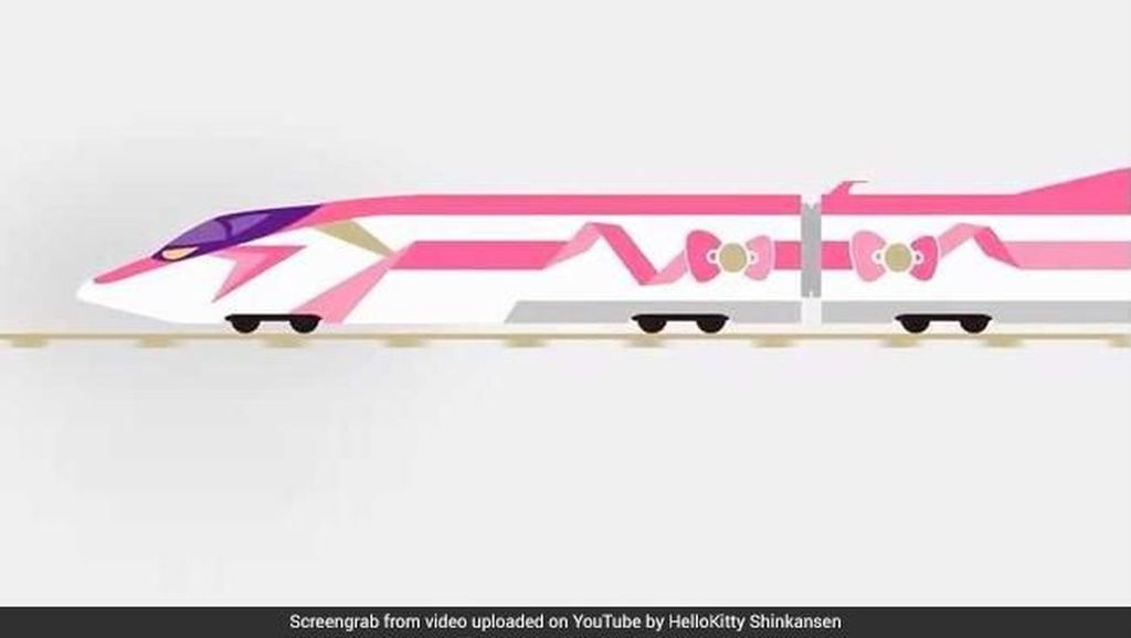 Pertama di Jepang, Ada Shinkansen Edisi Hello Kitty