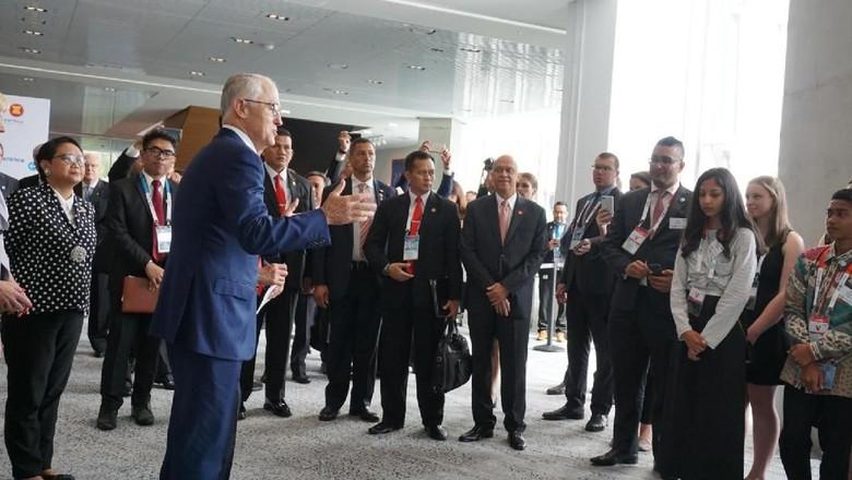Turnbull Puji Jokowi di Hadapan Pelajar RI-Australia