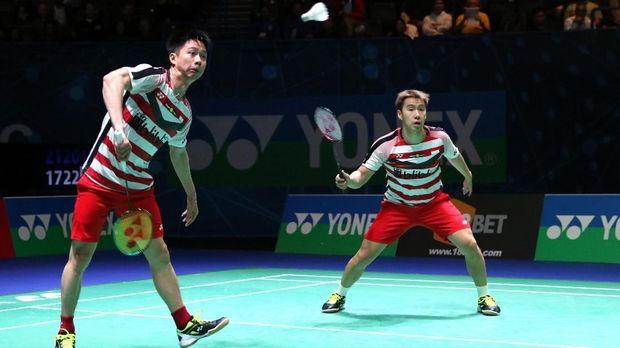 Kevin Sanjaya/Marcus Fernaldi Gideon jadi lawan Mathias Boe/Carsten Mogensen di babak final.