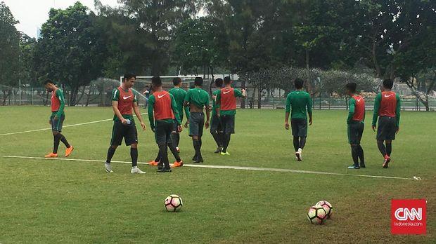 Timnas Indonesia menggelar pemusatan latihan di Jakarta jelang menghadapi Singapura pada 21 Maret.