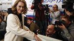 Potret Capres Cantik Rusia saat Memilih di Pilpres Rusia