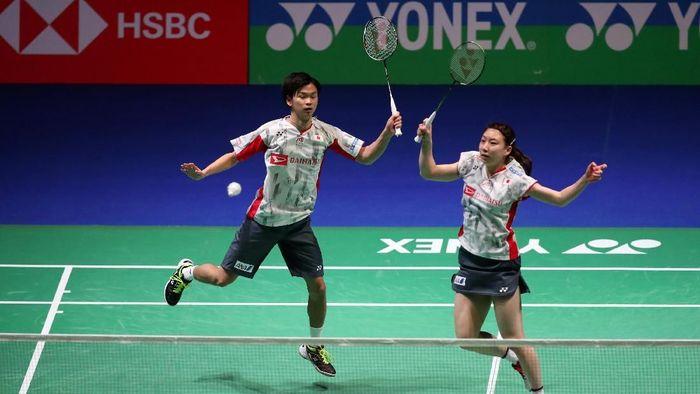 Partai pertama akan dibuka dengan penampilan ganda campuran Jepang, Yuta Watanabe/Arisa Higashino (Jepang). Mereka akan menghadapi wakil China, Zheng Siwei/Huang Yaqiong. (Peter Cziborra/Reuters)