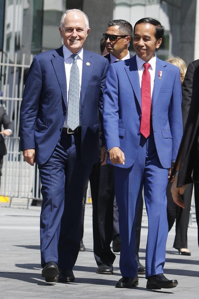 Potret Keakraban Jokowi dan Turnbull Naik Feri di Sydney