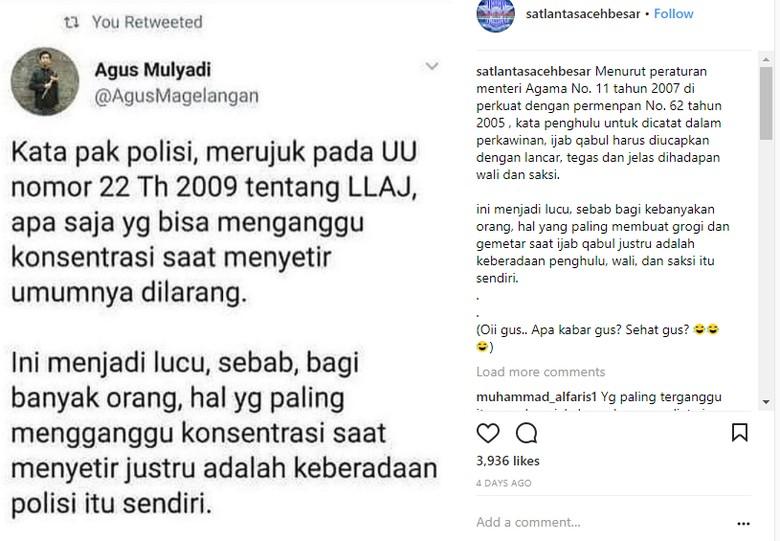 Foto: Instagram/Satlantas Aceh Besar