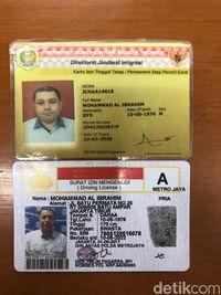 Kartu identitas Al Ibrahim agen asal Suriah yang terlibat TPPO 74 WNI