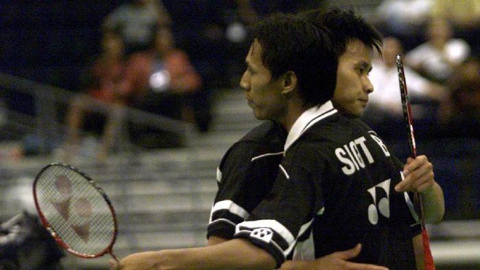 Sigit Budiarto bersama Candra Wijaya saat menang di Kejuaraan Asia. (Stanley Chou/Allsport in Getty Images)