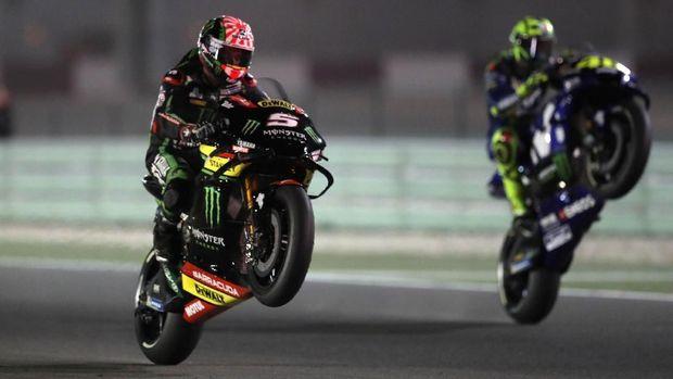 Johann Zarco tidak bisa mempertahankan posisinya di barisan terdepan pada awal-awal balapan MotoGP Qatar 2018.