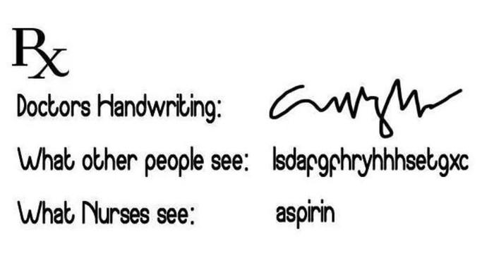 Persepsi yang berbeda ketika melihat tulisan dokter. (Foto: Instagram)