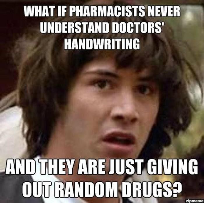 Pada akhirnya kita mungkin bertanya-tanya kenapa apoteker begitu gampang membaca resep dokter. (Foto: Instagram)