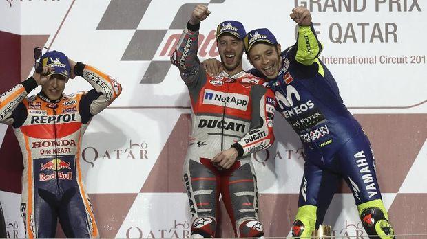 Andrea Dovizioso merupakan salah satu sahabat Valentino Rossi di MotoGP.