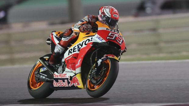 Marc Marquez anggap finis kedua sebagai kemenangan di MotoGP Qatar.