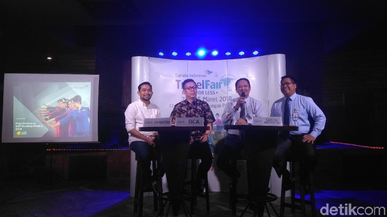 Jumpa pers GATF di Surabaya (Deny Prastyo Utomo/detikTravel)