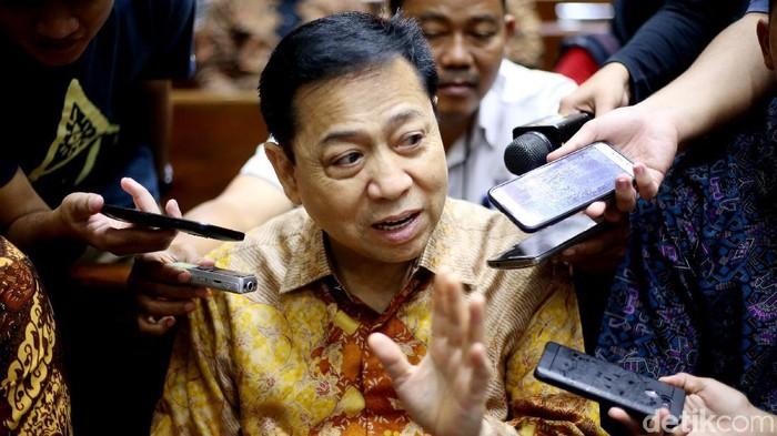 Setya Novanto di Pengadilan Tipikor Jakarta (Ari Saputra/detikcom)