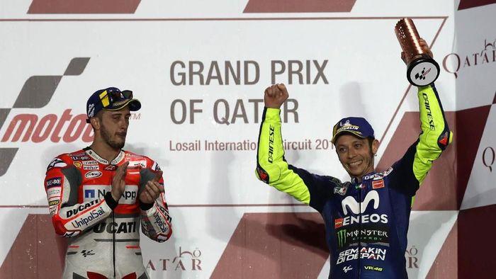 Finis ketiga jadi awal yang bagus untuk Rossi memulai musim baru (REUTERS/Ibraheem Al Omari)