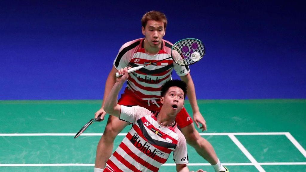 Kevin/Marcus Kalah, Indonesia dan Thailand Berimbang 1-1