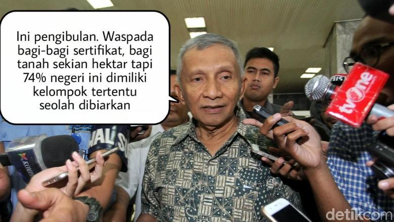 Meme Politik: Tentang Tudingan Ngibul Amien Rais ke Jokowi