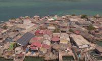 Santa Cruz del Islote yang padat rumah dan penduduknya (Natalia Guerrero/BBC Travel)