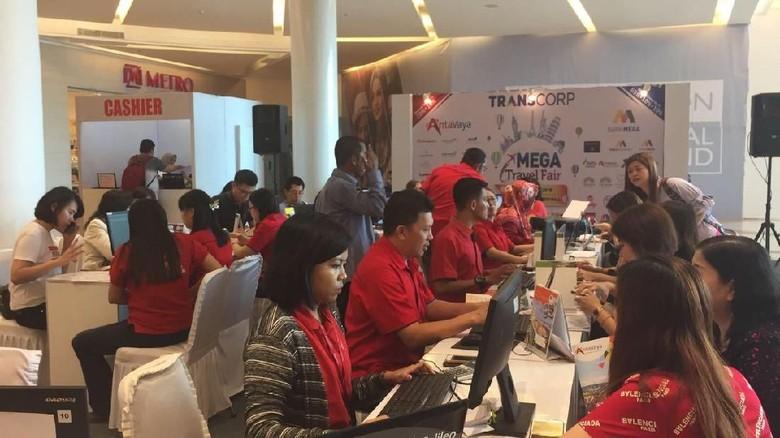 Suasana MTF Makassar (Mega Travel Fair)